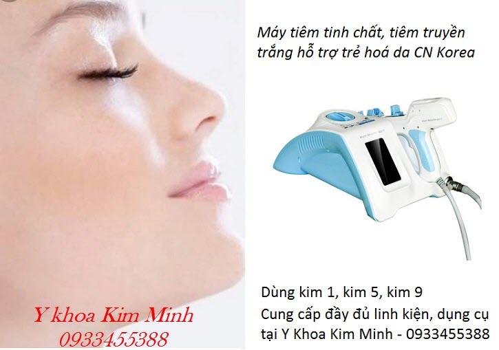 Máy tiêm truyền trắng, trẻ hoá da công nghệ Hàn Quốc Meso Injector 5 kim 9 kim - Y Khoa Kim Minh