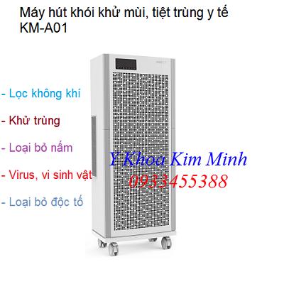 Máy hút khói khử mùi vô trùng phòng mổ y tế công suất 2000F KM-A01 - Y khoa Kim Minh 0933455388