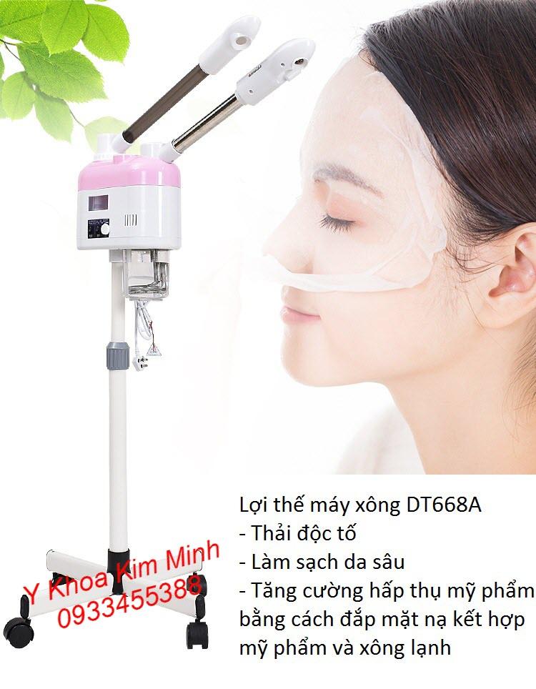 Máy xông măt DT668 làm sạch da mặt, đào thải độc tố, tăng hấp thụ mỹ phẩm - Y khoa Kim Minh
