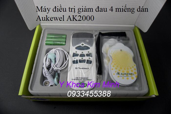 Máy xung điện 4 miếng dán Aukewel AK2000 bán nhiều tại Y khoa Kim Minh