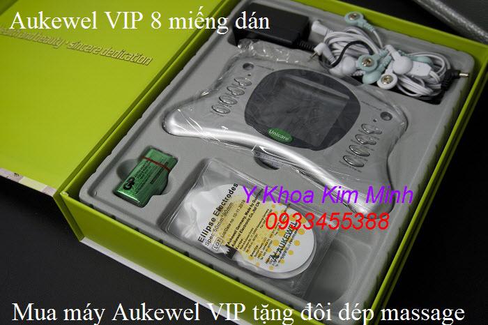 Sử dụng máy xung điện miếng dán Aukewel VIP giúp giảm nhanh các cơ đau cơ nhức mỏi khớp cho người già - Y Khoa Kim Minh