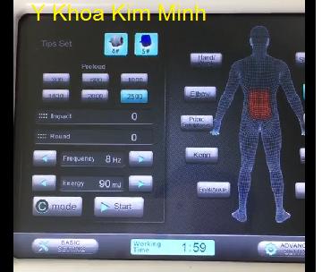 Máy xung kích Shock Wave chữa đau lưng - Y khoa Kim Minh