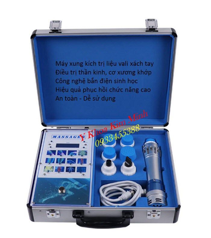 Máy xung kích trị liệu cơ xương khớp vali mini xách tay HL1602 - Y khoa Kim Minh