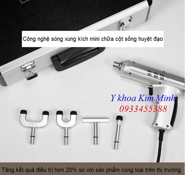 May xung kich tri lieu mini Ginha 700N gồm 4 đầu điều trị thay thế - Y khoa Kim Minh 0933455388