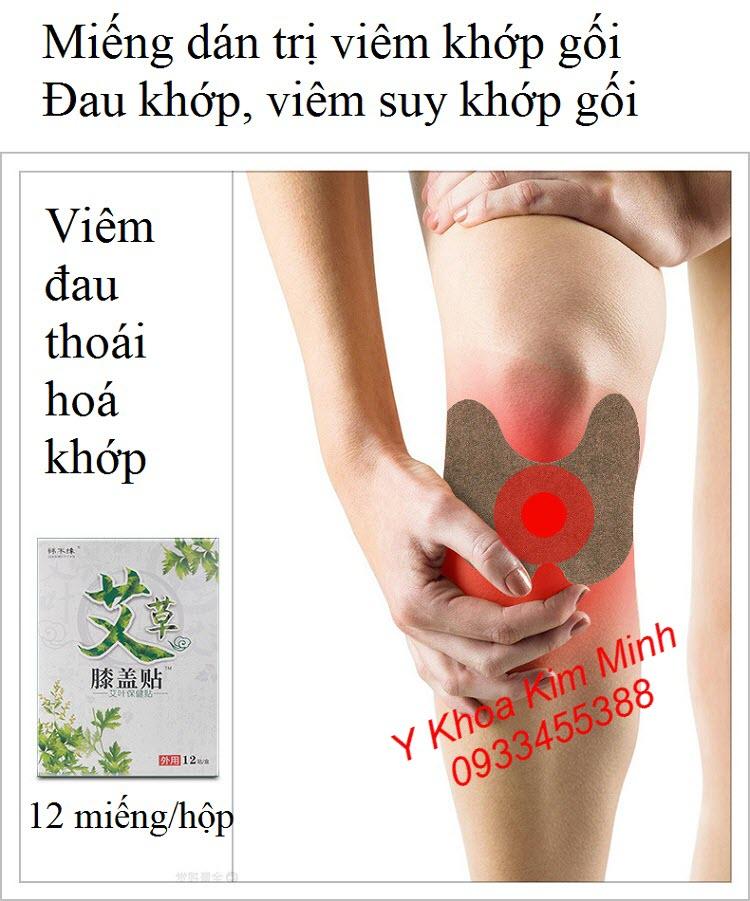 Miếng dán trị viêm đau khớp gối, suy đa khớp - Y khoa Kim Minh
