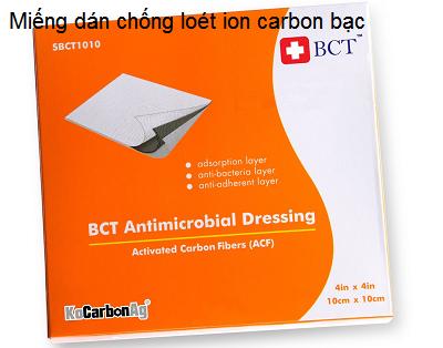 Miếng dán chống loét ion carbon bạc BCT điều trị lở loét - Y Khoa Kim Minh