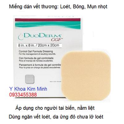Miêng dán làm lành vết lở loét lưng DuoDerm CGF 20x20cm nhập khẩu Mỹ - Y khoa Kim Minh