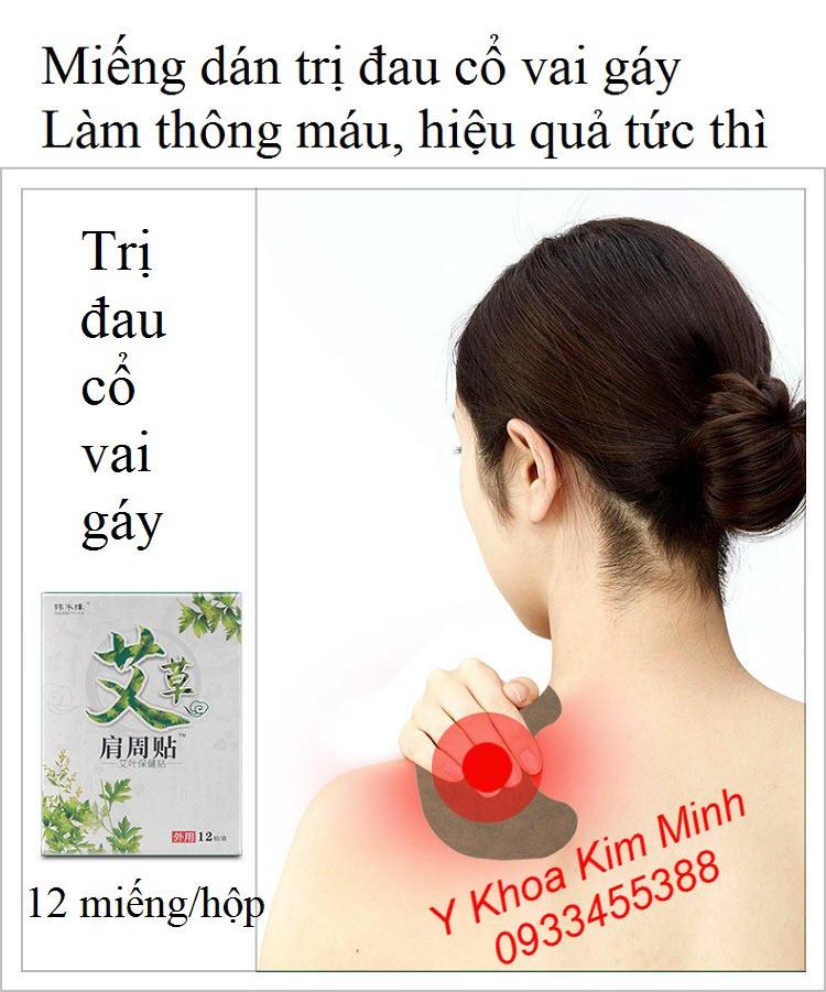 Miếng dán trị đau cổ vai gái, giảm hội chứng tê tay, đau nữa đầu - Y khoa Kim Minh