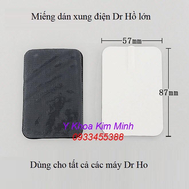 Miếng dán xung điện lớn của máy massage trị liệu Dr Ho - Y Khoa Kim Minh