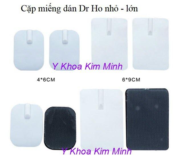 Cặp miếng dán xung điện lớn của máy Dr Ho - Y Khoa Kim Minh