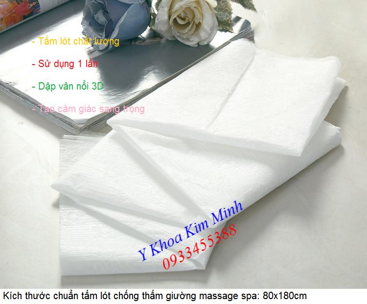 Vải lót không dệt dùng cho giường spa tắm trắng dập vân nổi 3D - Y khoa Kim Minh 0933455388
