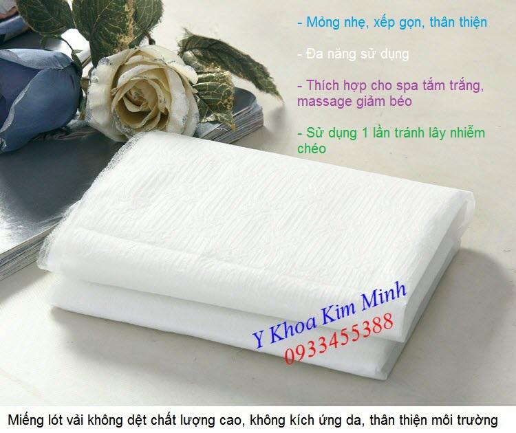 Miếng lót vải không dệt dùng 1 lần dùng cho giường massage spa - Y khoa Kim Minh 0933455388