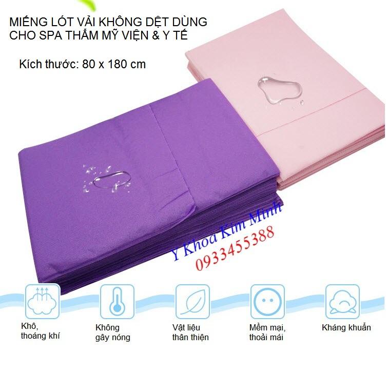 Miếng lót y tế thẩm mỹ spa loại vải không dệt dùng 1 lần - Y Khoa Kim Minh 0933455388