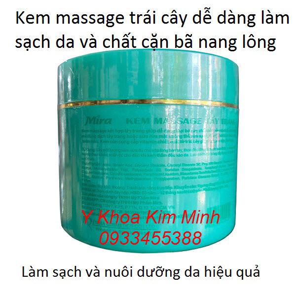 Mira Massage Cream, kem chuyên massage mặt và body chiết xuất từ tinh chất trái cây chứa nhiều vitamin