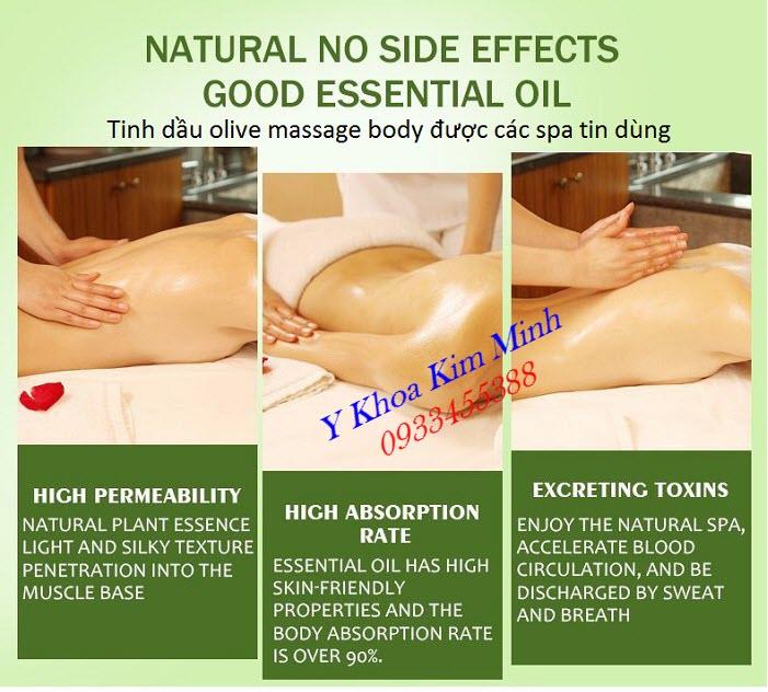 Tinh dầu massage body, tinh dầu o liu mua ở đâu tại Tp Hồ Chí Minh - Y khoa Kim Minh