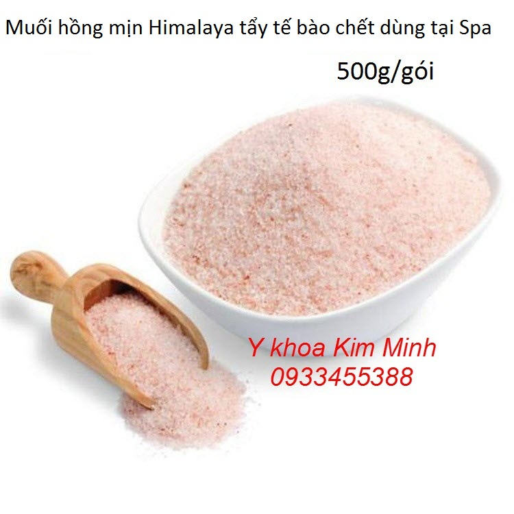 Muối hồng Himalaya dùng tẩy tế bào chết da mặt và body
