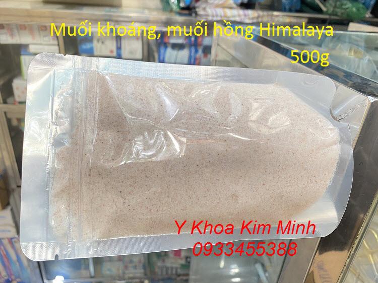 Muối khoáng Himalaya mịn dùng tẩy tế bào da chết da mặt