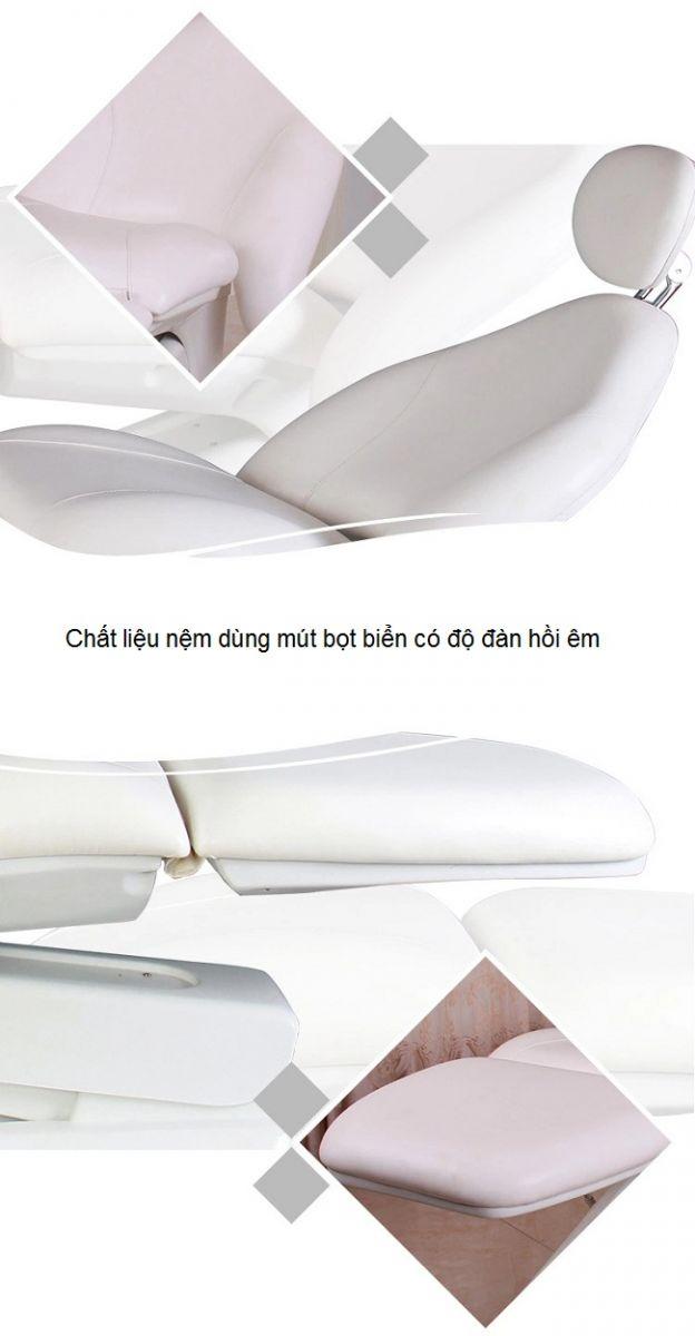 Hình ảnh nệm giường thẩm mỹ điện 3 khúc dùng mút bọt biển êm đàn hồi - Y Khoa Kim Minh