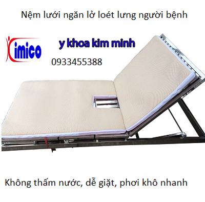 Nệm lưới nằm ngăn lở loét lưng người bệnh - Y Khoa Kim Minh