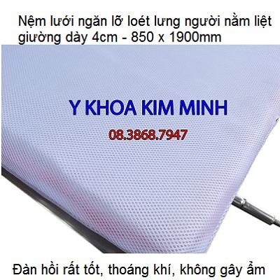 Nệm lưới ngăn lỡ loét lưng người bệnh nằm liệt giường bán tại Y khoa Kim Minh