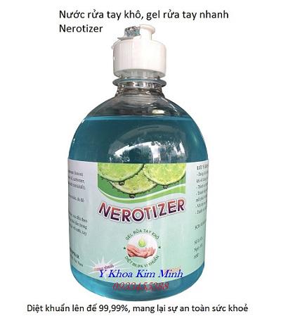 Gel rửa tay khô diệt khuẩn Mekopha Nerotizer 500ml - Y Khoa Kim Minh