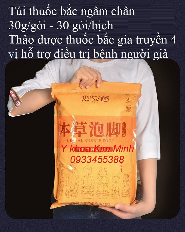 Thuốc bắc ngâm chân với bồn gỗ gồm 4 vị gia truyền - Y Khoa Kim Minh