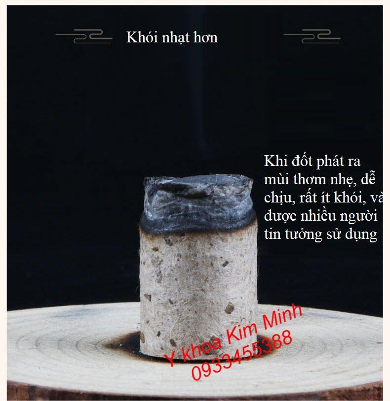 Nhang ngải cứu đốt ít khói, hương thơm dịu, rất được nhiều người ưa chuộng - Y khoa Kim Minh