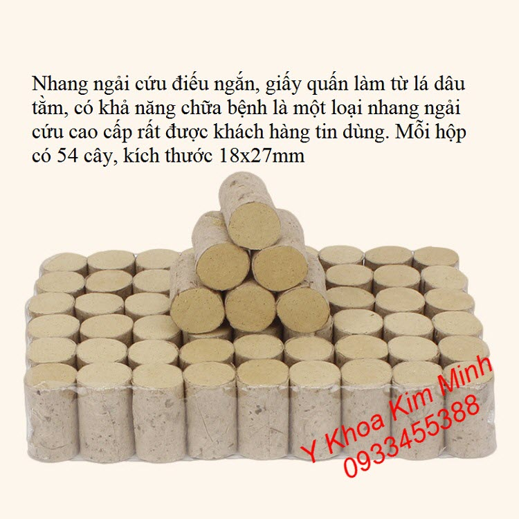 Nhang ngai cuu dieu ngan 18x27, hop 54 cay dang ban tai Y khoa Kim Minh