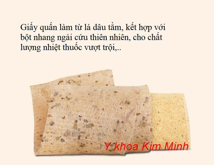 Giấy quấn nhang ngải cứu làm từ lá dâu tằm cho chất lượng thuốc vượt trội - Y khoa Kim Minh