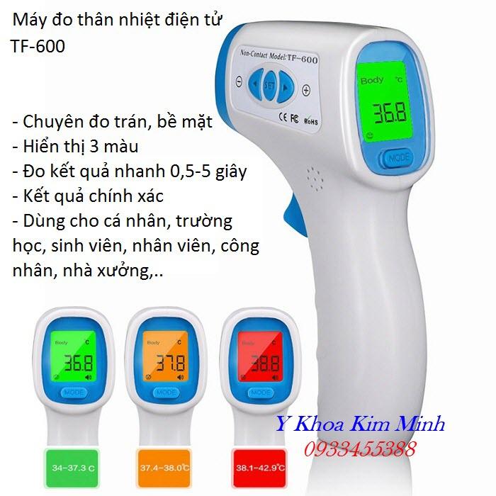 Nhiệt kế điện tử kiểm tra đo thân nhiệt vùng trán TF 600 chuyên dùng cho y tế - Y Khoa Kim Minh