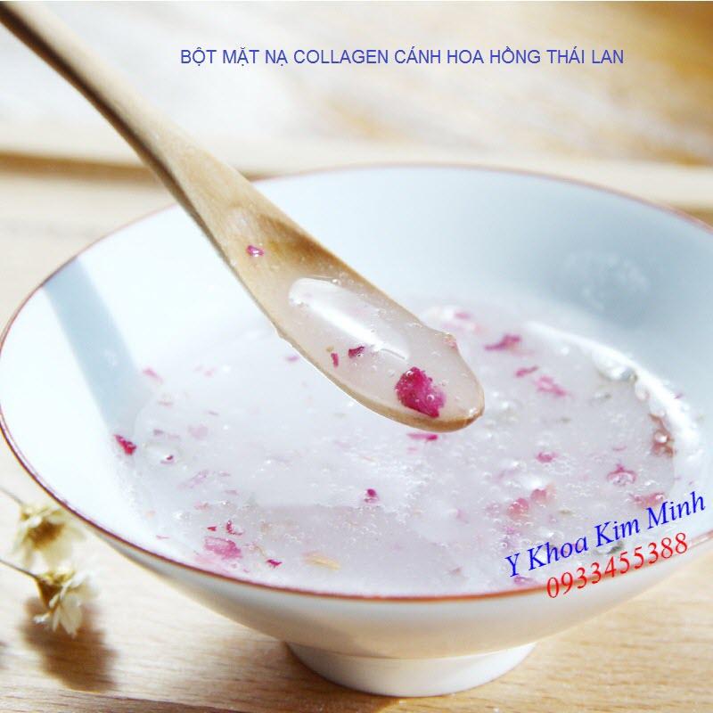 Bột mặt nạ dắp mặt collagen cánh hoa hồng collagen nhập khẩu Thái Lan 1000g - Y Khoa Kim Minh 0933455388