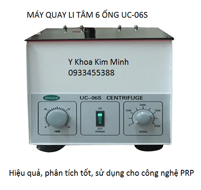 Dia chi noi ban may li tam 6 ong UC-06S dung tacch huyet tuong tieu cau PRP - Y khoa Kim Minh