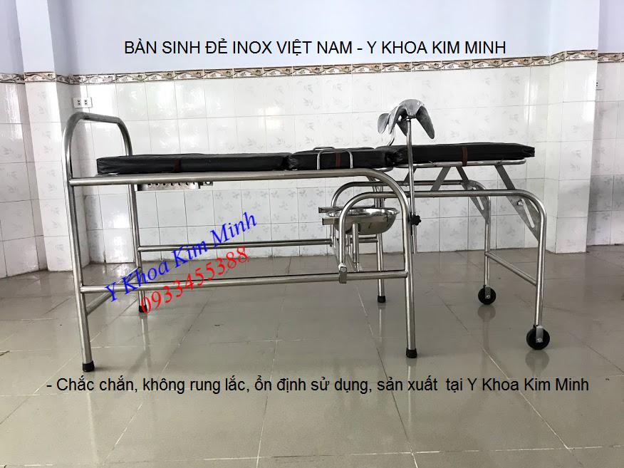 Noi ban ban sinh de inox y te cho phong kham benh vien tai Tp Ho Chi Minh - Y khoa Kim Minh