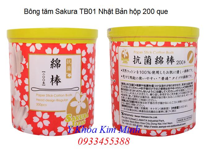 Địa chỉ bán tăm bông Sakura TB01 Nhật Bản tại Tp Hồ Chí Minh - Y Khoa Kim Minh 0933455388
