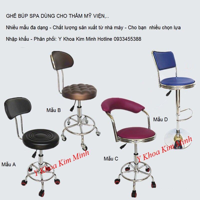 Nhập khẩu, phân phối, bán ghế búp cho nhân viên spa ngồi - Y Khoa Kim Minh 0933455388