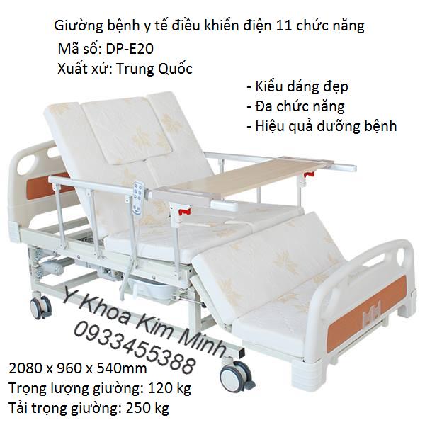 Nơi bán giường điện y tế 11 chức năng DP-E20 bán tại Tp Hồ Chí Minh - Y Khoa Kim Minh 0933455388