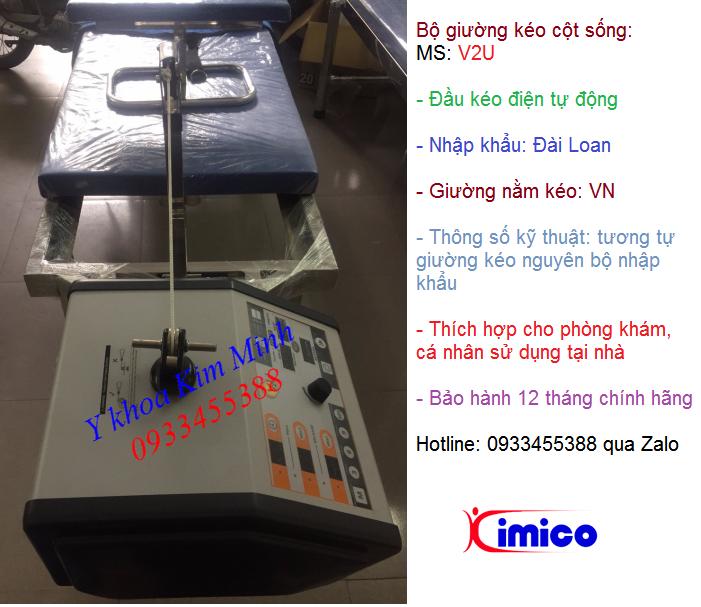 Nơi bán đầu kéo cột sống điện Đài Loan V2U + giường kéo Việt Nam - Y khoa Kim Minh 0933455388