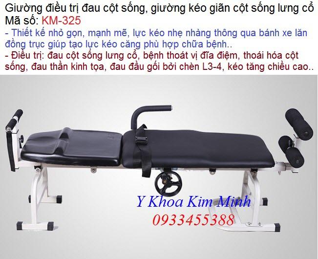 Giường kéo cột sống cá nhân, giường kéo giãn cột sống chữa thoát vị đĩa đệm thần kinh tọa KM-325 - Y Khoa Kim Minh
