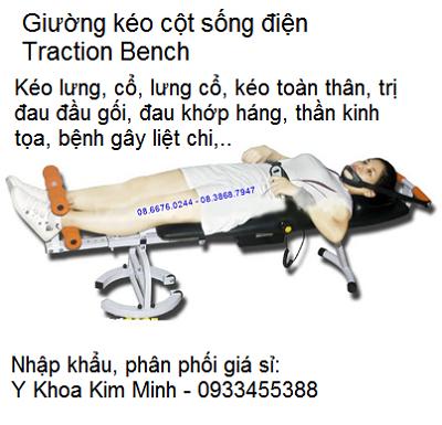 Nơi bán giường kéo cột sống điện điều trị thoát vị đĩa đệm, đau cột sống - Y khoa Kim Minh 0933455388