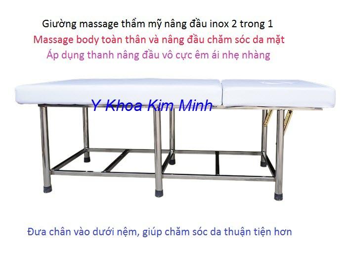 San xuat ban giuong massage nang dau inox cong nghe moi GY-602 - Y Khoa Kim Minh