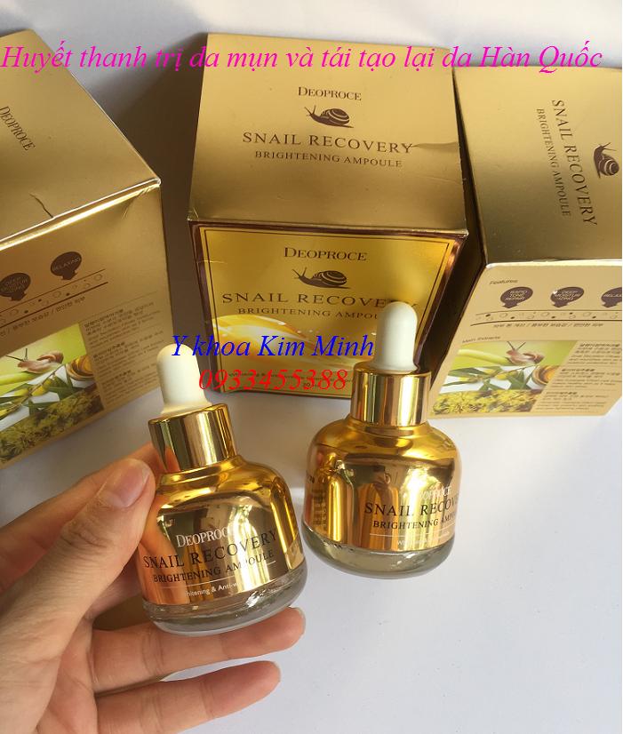 Snail Recovery Brightening Ampoule Deoproce nhập khẩu Hàn Quốc chuyên chữa da mụn và tái tạo da - Y khoa Kim Minh