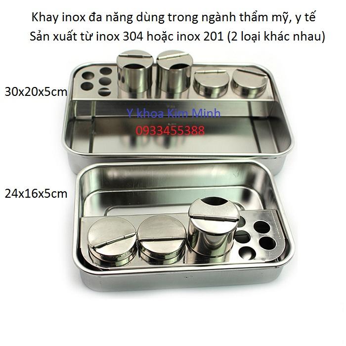 Địa chỉ nơi bán khay y te da nang dung cho nganh tham my spa inox 304 - Y Khoa Kim Minh