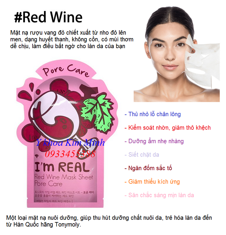 Noi ban mat na dap mat duong da Han Quoc Red Wine Tonymoly Korea - Y khoa Kim Minh 0933455388