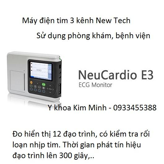 Dia chi cong ty ban may dien tim 3 kenh New Tech Neu Cardio E3 tại Tp Hồ Chí Minh - Y khoa Kim Minh