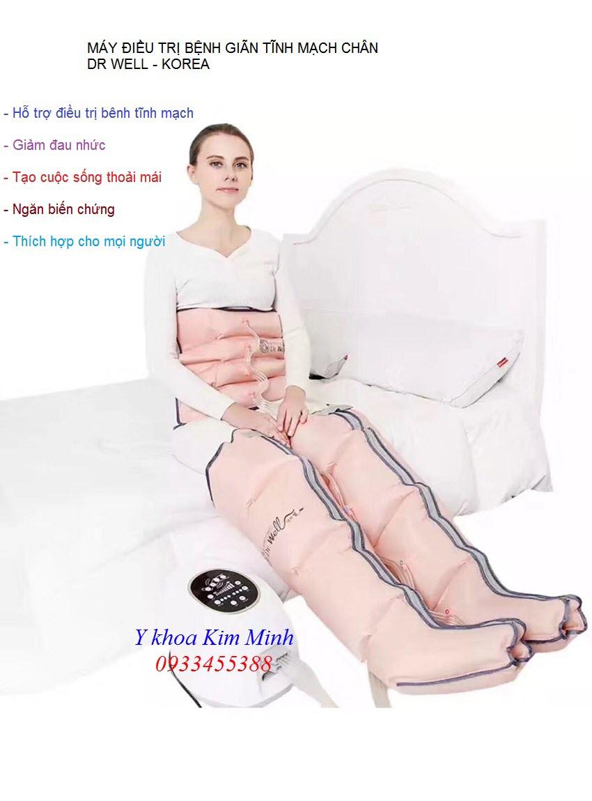 Nơi bán máy điều trị bệnh giãn tĩnh mạch chân Dr Well Hàn Quốc tại Tp Hồ Chí Minh - Y khoa Kim Minh 0933455388