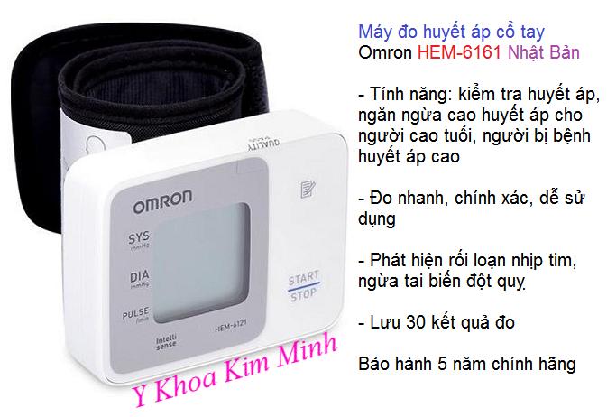 Đại lý bán máy huyết áp cổ tay Omron HEM-6161 tại Tp Hồ Chí Minh - Y Khoa Kim MInh 0933455388