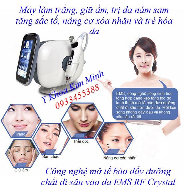 Nơi bán máy mở tế bào đẩy dưỡng chất xuống sâu dưới da EMS RF - Y khoa Kim Minh 0933455388