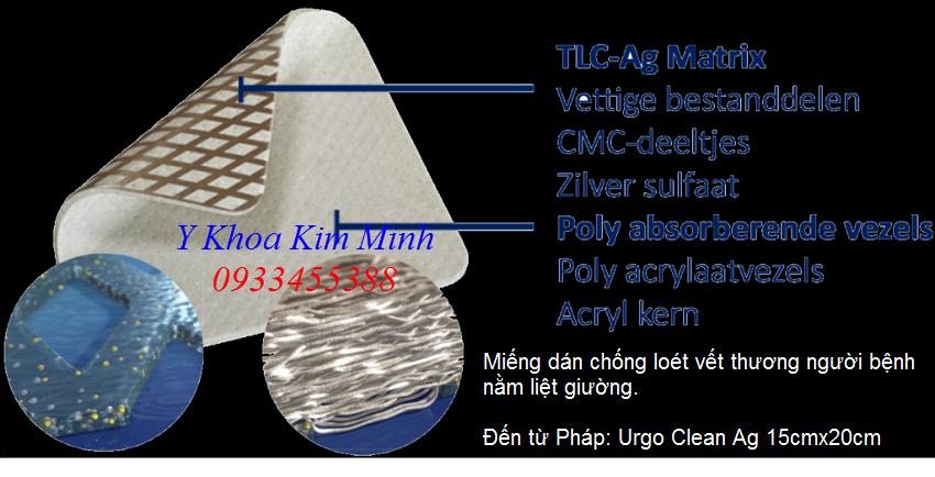 Miếng dán chống loét người bệnh Urgo Clean Ag 15cmx20cm bán tại Tp Hồ Chí Minh - Y khoa Kim Minh 0933455388