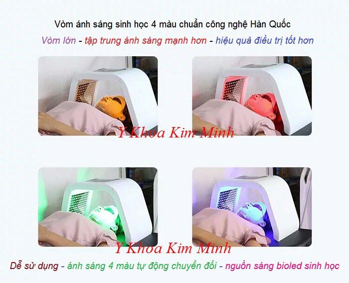 Nơi bán vòm ánh sáng sinh học bioled 4 màu công nghệ Hàn Quốc - Y Khoa Kim Minh
