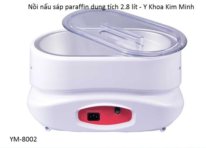 Nồi sáp paraffin YM-8002 dung tích 2,8 lit dùng ngâm tay chân ngành vật lý trị liệu - Y Khoa Kim Minh